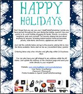 Happy Holidays Email Blast