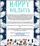 Happy Holidays Email Blast