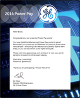 GE Power Pay Email Blast