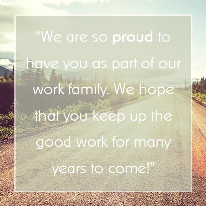 Employee Appreciation Message #1