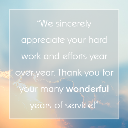Employee Appreciation Message #11